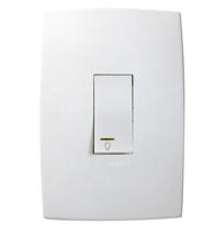 Conjunto Placa 4x2 com 1 Pulsador Minuteria C/ Luz Ref. 611123 - Pial Legrand Plus