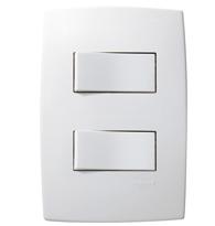 Conjunto Placa 4x2 Com 2 Interruptores Paralelos 10a 250v Ref. 612104 - Pial Legrand Plus