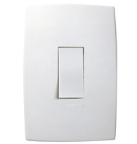 Conjunto Placa 4x2 com 1 Interruptor Intermediário Ref. 612107 - Pial Legrand Plus