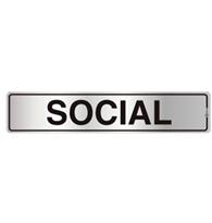 Placa de Aviso Social 5x25cm - C05028 - Indika