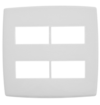 Placa 4x4 P/2   2 Módulos Separados Ref. 618514 - Pial Legrand Plus