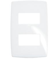 Placa Gloss 4x2 P/2 Módulos Separados Ref. 618526 - Pial Legrand Plus