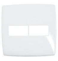 Placa Gloss 4x4 P/1 + 1  Módulos Horizontal Ref. 618531 - Pial Legrand Plus