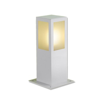 Poste de Alumínio Quadrado Branco 30 Centímetros  para 1 Lâmpada E27 PA-130 BR Lustres Ideal