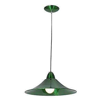 Pendente Bahrein Verde P/1 Lamp 23w Diam 38,5cm