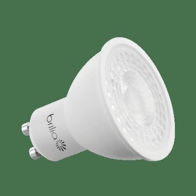 Lâmpada Led Dicróica GU10 6,5W 3000K Luz Branca Amarelada Bivolt 525 Lúmens 433966 Brilia