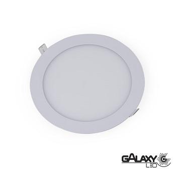Painel Led de Embutir Redondo 24w 30cm 3000k Bivolt 2400lm 140114013 Galaxy