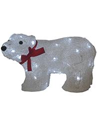 Urso de Acrílico Led Branco 8 Funções 127V - 11554 - Kadio