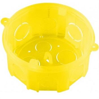 Caixa de Embutir 4X4 de PVC Amarela Com Fundo Movel - 57500/004 - Tramontina