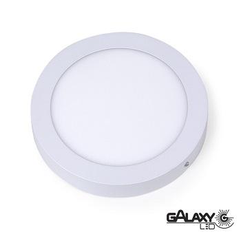 Painel Led Redondo de Sobrepor 18W 22,5CM 6000K Luz Branca Fria Bivolt 140114018 Galaxy