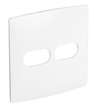 Placa 4x4 1+1 Posto Horizontal Seda Sal - 663410 - Pial Legrand Nereya