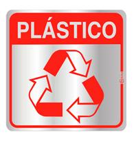 Placa de Aviso Reciclagem Plástico 16x16cm - C16031 - Indika