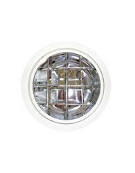 Luminária de Embutir Redonda Branca Para 2 Lâmpadas de Até 26 W E27 Com Aleta - 468-l - Spot Jaguara