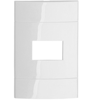 Placa 4 X2 Para 1 Posto Branca Pura - Prm044211 -  Schneider - Lunare Decor - Prime