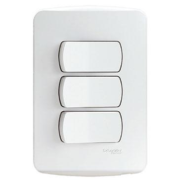 Conjunto 3 Interruptores Simples - S3B62210 -  Schneider - Miluz
