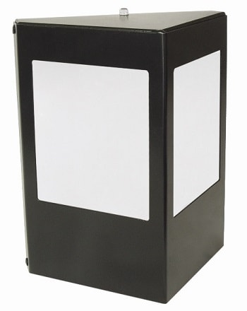 Arandela de Alumínio Triangular e Base Reta Para 1 Lâmpada E27 com Vidro 100% Jateado - Preto - 458/1 PT - Thema Lustre