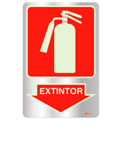 Placa de Aviso Extintor Foluminescente 16x25 - F25002 - Indika