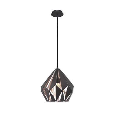 Luminária Pendente Carlton Preto/cobre Para 1 Lâmpada E27 40w, Eglo
