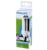 Lâmpada Eletrônica Eco Home Mini Tripla 18W X 127V Branca Fria (Luz Branca) E27  PLD18W127ECOSTK  PHILIPS