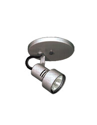 Spot Sobrepor com Canopla Redonda Para 1 Lâmpada Dicroica GU10 de Até 50W -  Cromado Lixado  - Pipe - 110/1 LIX - Thema Lustre