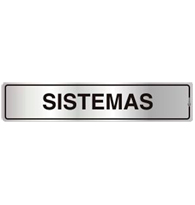 Placa de Aviso Sistemas 5x25CM - C05117 - Indika