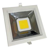 Super Led Downlight Quadrado 30W Bivolt Luz Branca Fria 4200K IP20 - L1880-30 - B.Bauer