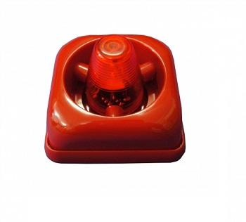 Sirene Audio Visual e Sonora Convencional LED 24V (CC) 100DB SLIM 4615003 Engesul