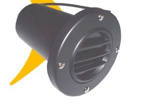 Spot de Embutir Em Solo Para Lâmpada Par 20 Com Vidro e Grade Preto 00525 Pt Fm Lustres