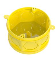 Caixa de Embutir 4x4 Octogonal Pvc Amarela FMS (Fundo movel Simples) - CX FMS-AM - Yoplast