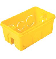Caixa de Embutir 4x2 de PVC Amarela - 57500/041 - Tramontina