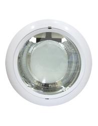 Luminária de Embutir Redonda Para 2 Lâmpadas PL 4 Pinos Até 26W com Parte do Vidro Jateado - Face Cônica -  Branca  - BH-31 80-5 PL - B.Bauer