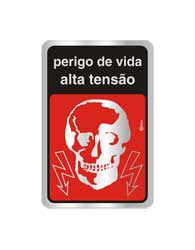Placa de Aviso ??Perigo de Morte?? 16x25CM - C25013 - Indika