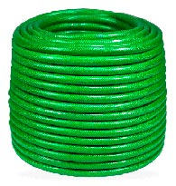 Mangueira  Flexivel 1/2 Mega Jato Jet Plus - verde/amarela - Plasbohn