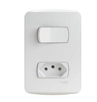 Conjunto Interruptor Simples + 1 Tomada 2P T 10A 250V - S3B69030 - Schneider - Miluz