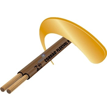 Cordão Fio Paralelo 1.0mm Marrom - Sil P1.0 MR - Sil