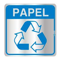 Placa de Aviso Reciclagem Papel 16x16cm - C16030 - Indika