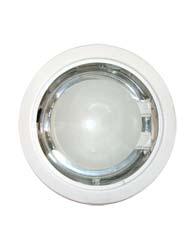 Luminária de Embutir Redonda Grande Para 2 Lâmpadas de 15w E27 Com Vidro e Mola -penske
