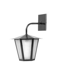 Lanterna L-3-B Preto Sextavada 36cm x 26cm - L-3-B PT - Lustres Ideal