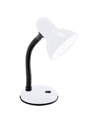 Lumin�ria de Mesa Para 1 L�mpada E27 - Branca - Basic - LMB203BR - Kin Light
