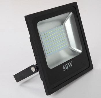 Super Projetor Preto Led Slim 50W Bivolt Luz Branca 6500K LTFL506500KSLIM B.Bauer
