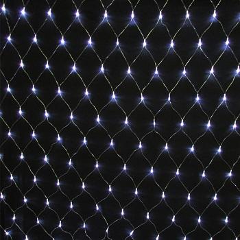 Rede com 240 Leds Fio Branco Sequencial 8 Funções 110V 18046 KADIO
