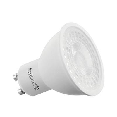 Lâmpada LED Dicróica Gu10 6,5w 3000k Luz Branca Amarelada Bivolt 525 Lúmens - Brilia