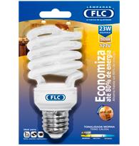 Lâmpada Eletrônica Espiral 23W X 127V Branca Quente (Luz Amarela) E27 01070207 FLC