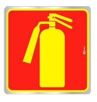 Placa de Aviso Extintor 16x16CM - C16016 - Indika