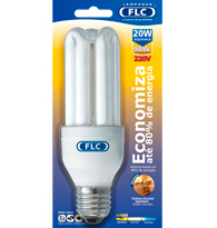 Lâmpada Eletrônica Tripla 20w X 220v Branca Quente (luz Amarela) E27 01020349  Flc