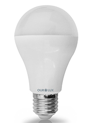 Super Led S60 6W  Bivolt Branca Fria (Luz Branca ) E27- 03129 - Ourolux