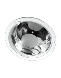 Luminária de Embutir Redonda de Alumínio Com 3 Botões Para 2 Lâmpadas 2x18/26w 4 Pinos - 478 Vd Jat - Spot Jaguara