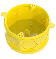 Caixa de Embutir 4x4 PVC Octogonal Amarelo Fundo Movel - 33043155 - Tigre