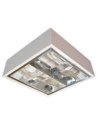 Lumin�ria Sobrepor Quadrada 2x15W Refletor Aletado com Soquete - RSLS 2X15W - Indelpa