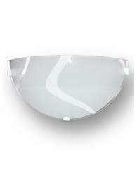 Arandela Redonda Super Luxo 1/2 cana branca - 1224 - Emalustres